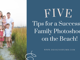 Five Tips for a Successful Family Photoshoot on The Beach