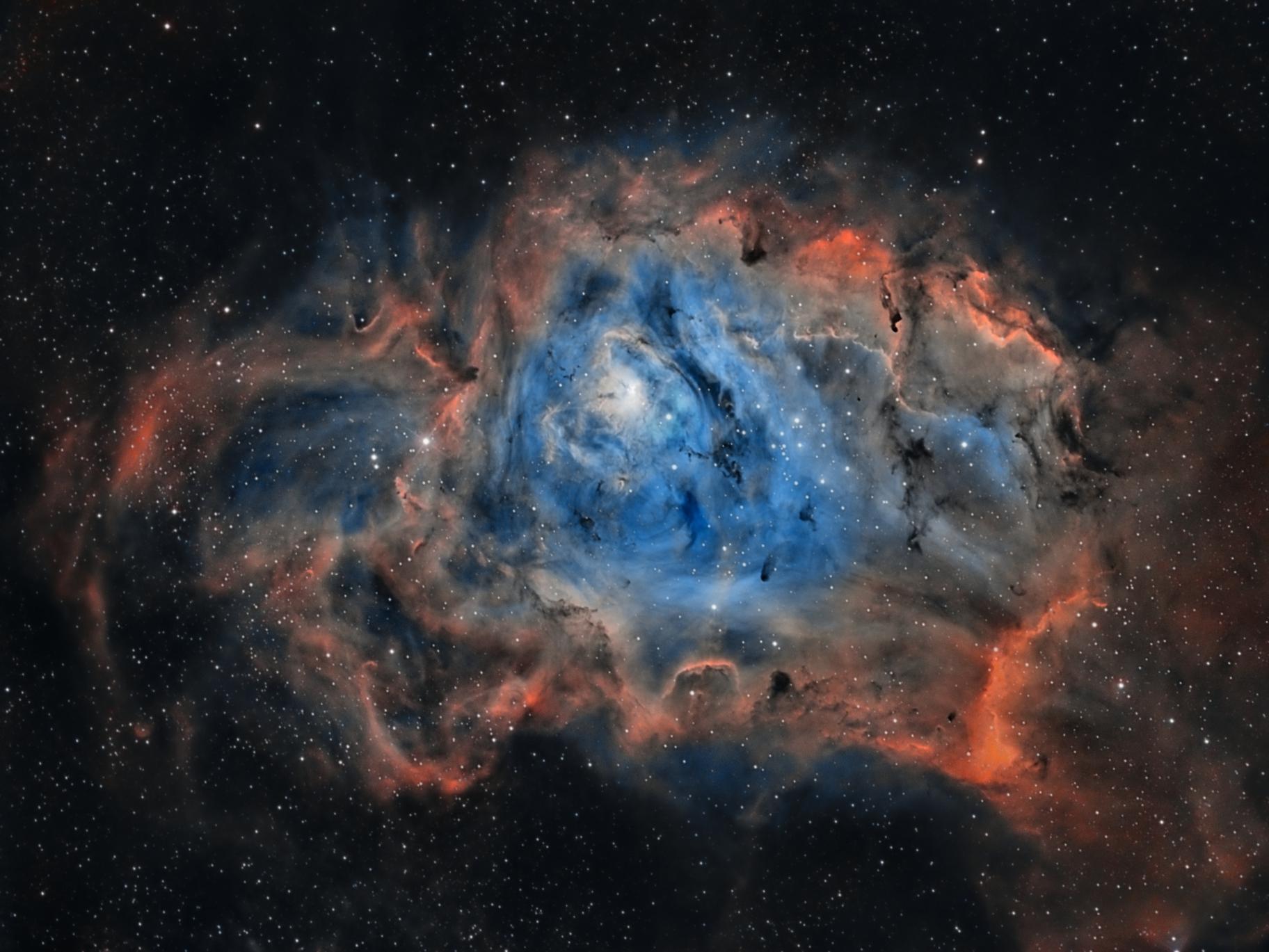 Lagoon Nebula by Frank Breslawski