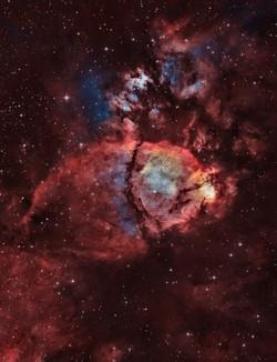 Fishhead Nebula by Frank Breslawski