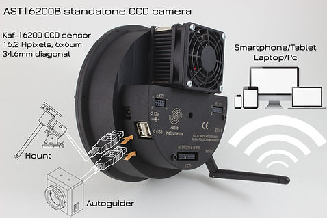 AST16200-B WiFi KAF16200 CCD Smart Camera for Astronomy