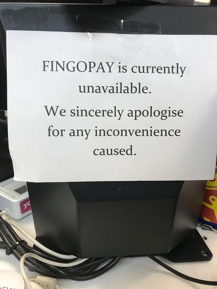 Fingopay goes offline after technical issues