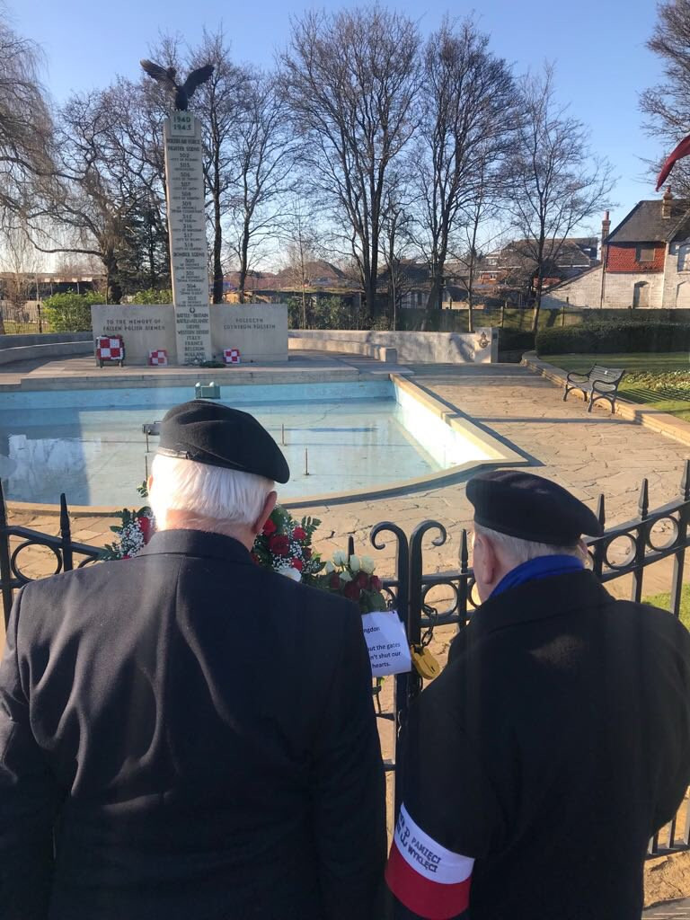 Veterans locked out the Polish War Memorial (Image: @britishpoles)