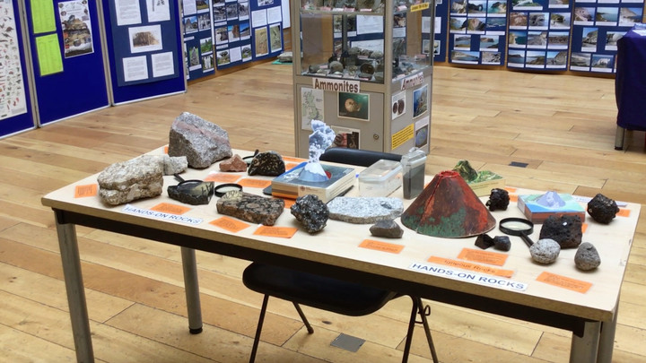 Fossil show rocks into Uxbridge Library