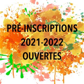 Pré-inscriptions 2021-2022