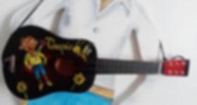 Guitare enfant customisée Toupie