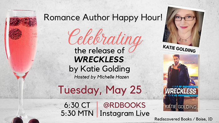 Romance Author Happy Hour May 25 Katie G