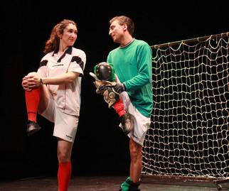 Teri and the goalkeeper