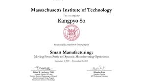Smart manufacturing (MIT certificate, 2020)