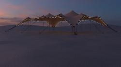 Tente stretch dans le désert