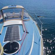 Capote de descente et panneau solaire