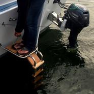Plateforme arrière du bateau