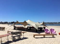 Evènement d'entreprise sur la plage