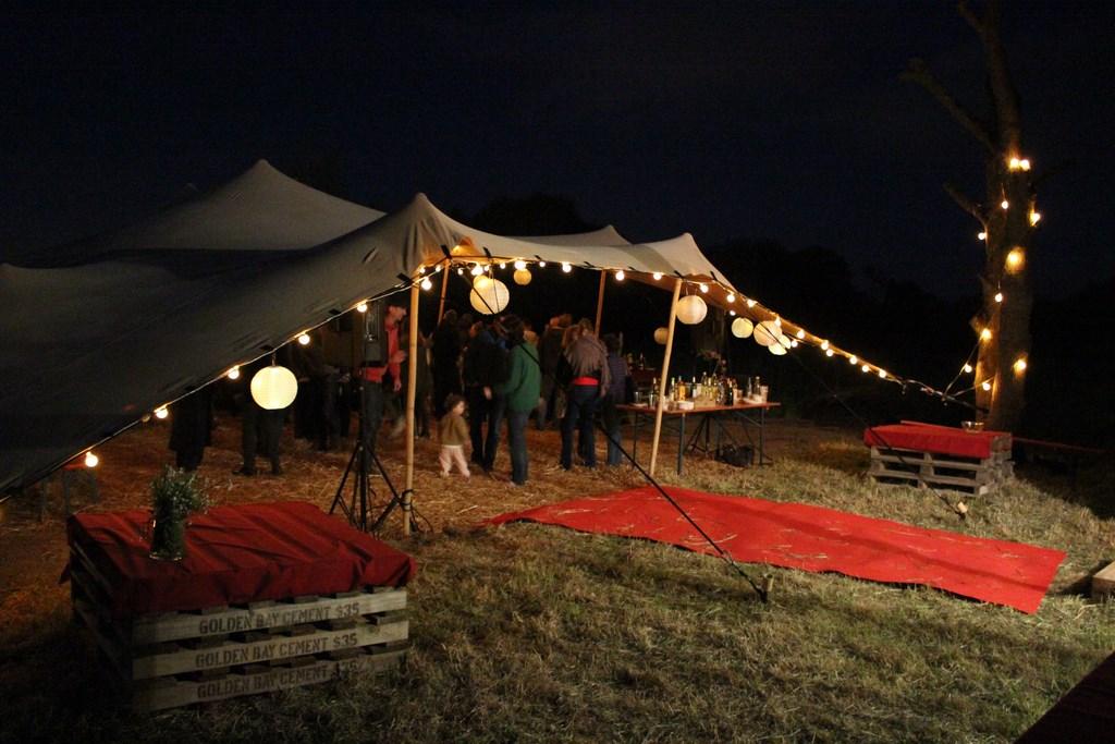 Réception champêtre - tente nomade