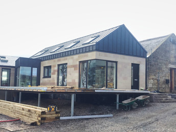 Extension to Farm House in North Ayrshire - Site Progress