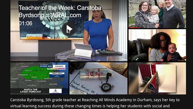 Teacher of the Week: Carstoba Byrdsong: WRAL.com