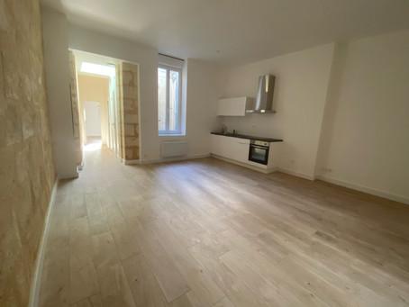 Rue fondaudège : appartement 2 chambres 60m2 refait à neuf
