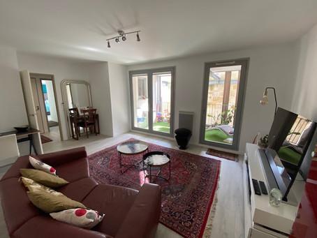 Chartrons - aux pieds des quais : appartement de 70 m2 avec 2 chambres, Terrasse & Parking