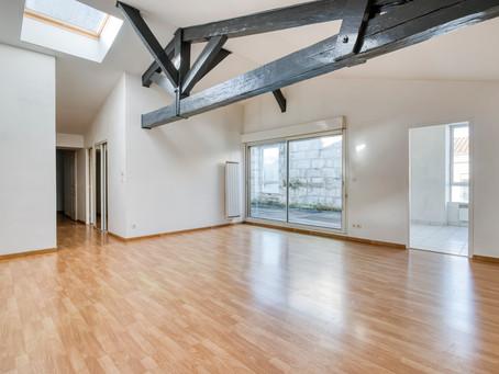 Coeur des Chartrons : appartement 2 Chambres 90 m2 avec 2 terrasses & Parking.