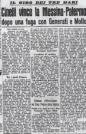 1938 Cinelli 3 mari