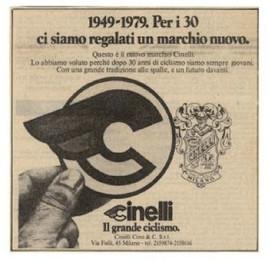 Cinelli new logo 1979