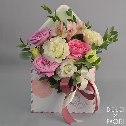 0577 конверт с цветами