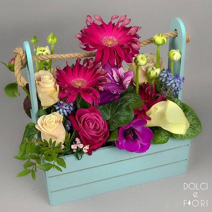 0486 ящик с цветами