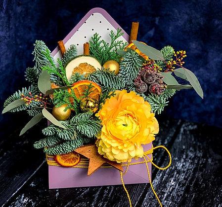 0248 конверт с цветами