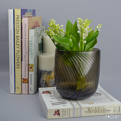 0514 ваза ребристая
