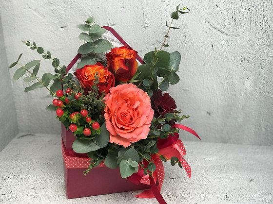 0122 конверт с цветами