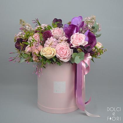 0491 коробка с цветами