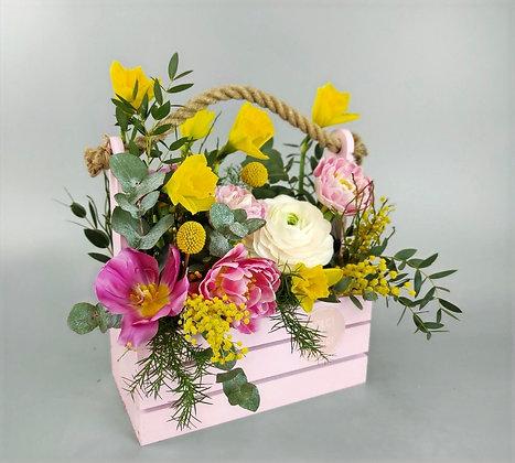 0373 ящик с цветами
