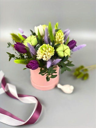 0382 коробка с цветами