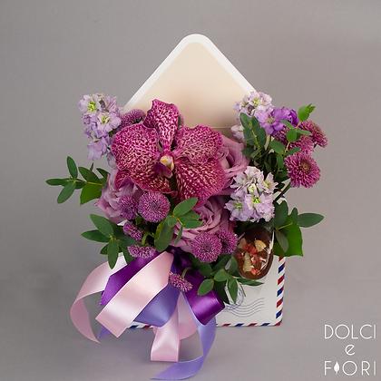 0630 Конверт с цветами