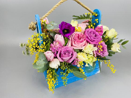 0351 ящик с цветами