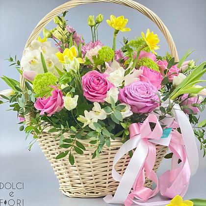 0420 корзина с цветами