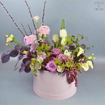 0468 коробка с цветами