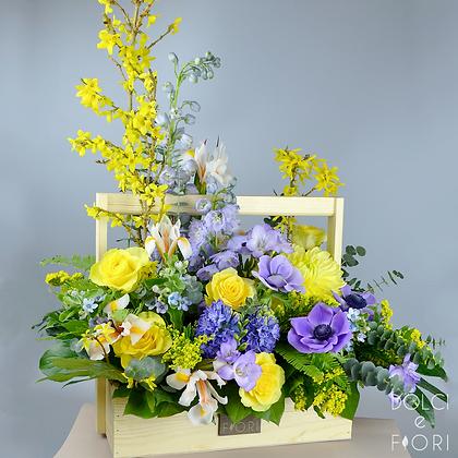0454 корзина с цветами