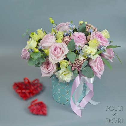 0326 коробка с цветами