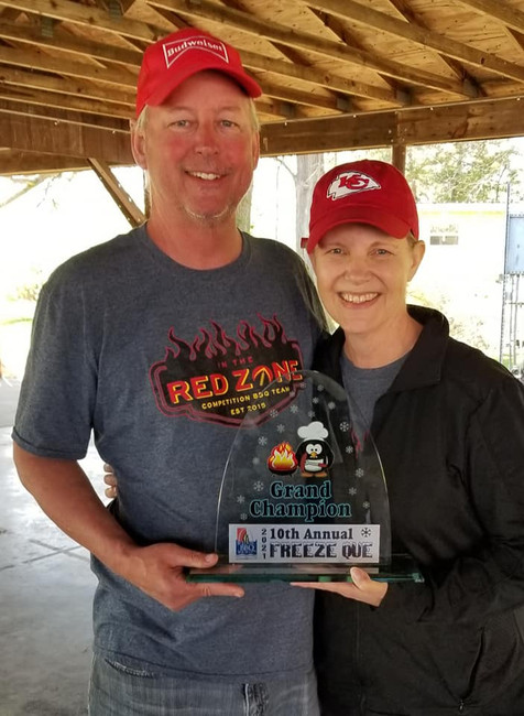In The Red Zone BBQ Freeze Que Grand Champion
