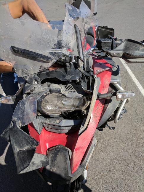 Malek's GSA after his crash
