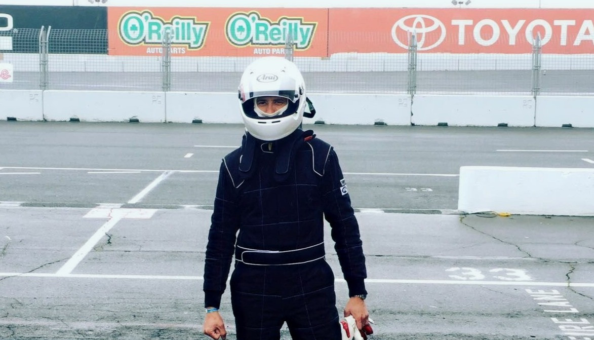 Me, waiting for my first wet race