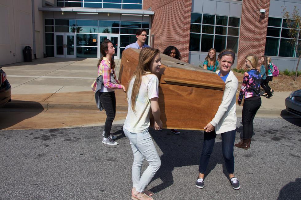 drum casket greenville carry