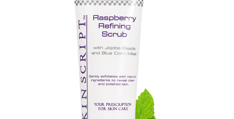 Skin Script Raspberry Refining Scrub, with Jojoba Beads and Blue Corn Meal 4 oz