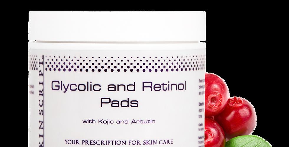 Skin Script Glycolic and Retinol Pads 50 pads