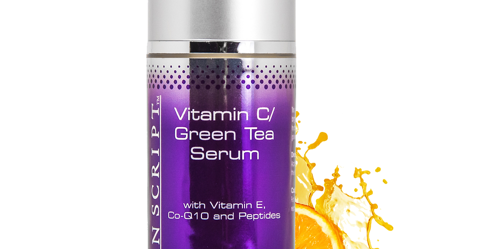 Skin Script Vitamin C/Green Tea Serum with Vitamin C, CoQ10, and Peptides 1 oz