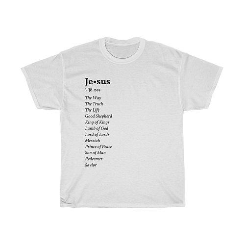 """Jesus Definition"" Unisex Heavy Cotton Tee"