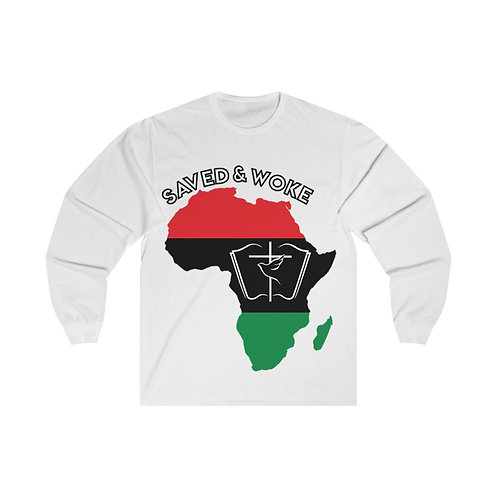 """Saved & Woke"" Unisex Long Sleeve Tee"