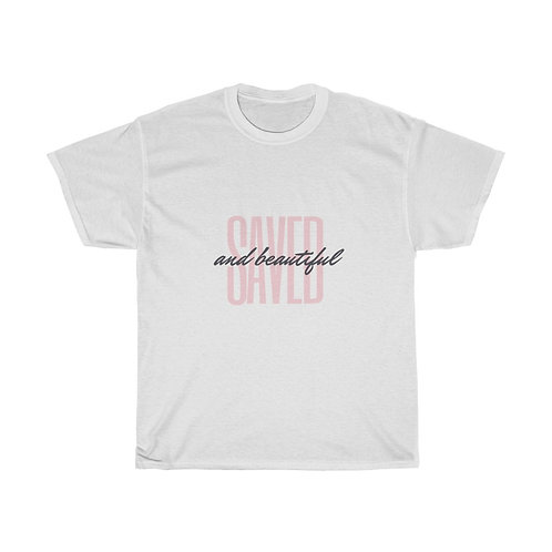 """Saved & Beautiful"" Unisex Heavy Cotton Tee"