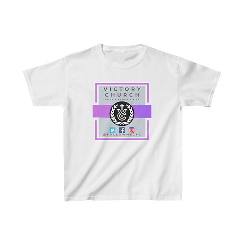 "Purple ""Victory Church"" Kids Heavy Cotton™ Tee (5yrs & Older)"