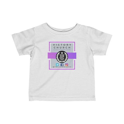 "Purple ""Victory Church"" Infant Fine Jersey Tee"